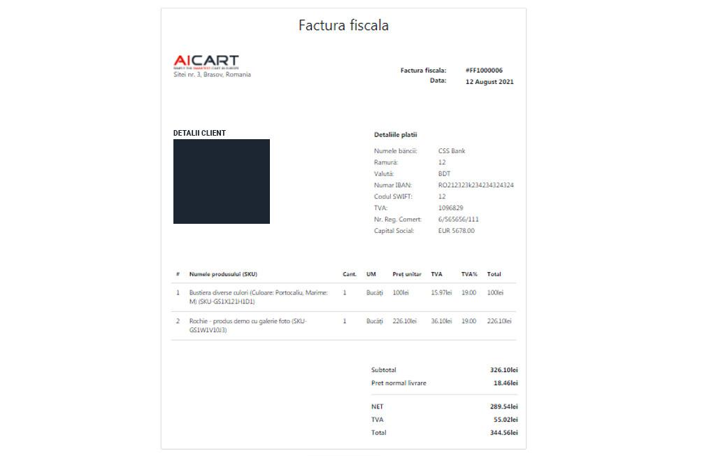 Generator factura